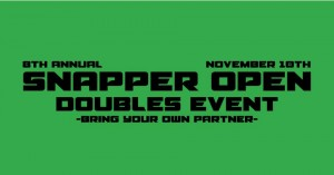 8th Annual Snapper Open Doubles Event graphic
