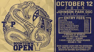 Top of Texas Disc Golf Presents: Boomtown Open V graphic