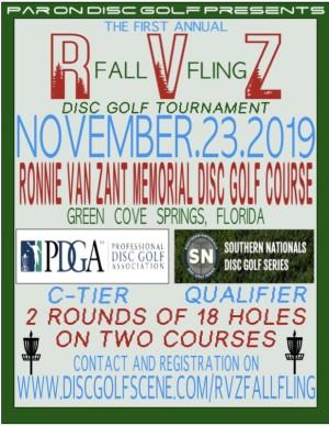 Par On Disc Golf presents R.V.Z Fall Fling graphic
