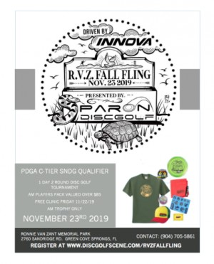 Par On Disc Golf presents R.V.Z Fall Fling Driven by Innova graphic