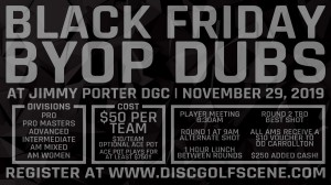 Dynamic Discs Black Friday BYOP Doubles @ Jimmy Porter graphic