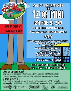 1st of Mini - Mini Disc Golf Event graphic