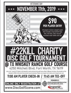 22Kill Veterans Day Charity Tournament graphic