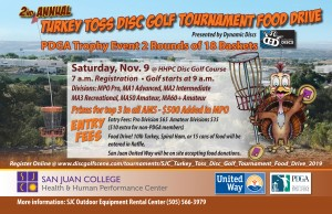 SJC Turkey Toss Disc Golf Tournament Food Drive by Dynamic Discs graphic