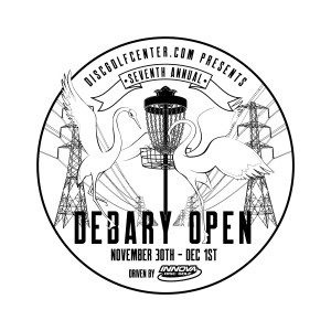 2019 DeBary Open presented by discgolfcenter.com, Driven by Innova graphic