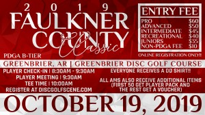 2019 Faulkner County Classic Sponsored by Dynamic Discs graphic
