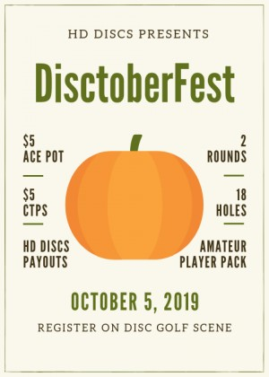 Disctoberfest - Presented By HD DISCS graphic