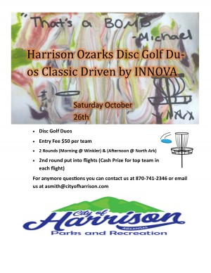 Harrison Ozarks Disc Golf Duos Classic Driven by INNOVA graphic