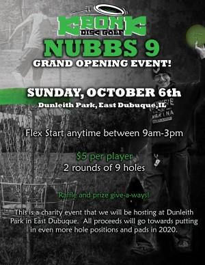 Nubbs 9 Grand Opening - $5 Flex Start graphic
