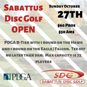 Sabattus Disc Golf Open graphic
