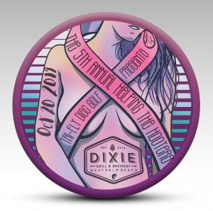 Tri-Fly Disc Golf presents the 5th Annual Helping the Hooters Fundraiser, co-sponsored by Dixie Grill and Brewery graphic