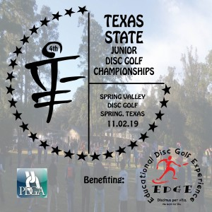 4th Annual Texas State Junior Disc Golf Championship graphic