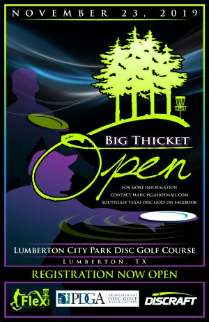 2019 Big Thicket Open graphic