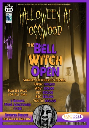 Halloween At Oggwood - 2019 Bell Witch Open sponsored by Dynamic Discs graphic