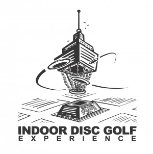 INDOOR DISC GOLF EXPERIANCE -Eau Glow Throw edition- Ace Race - Powered by Prodigy Disc graphic
