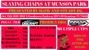Slaying Chains at Munson Park graphic