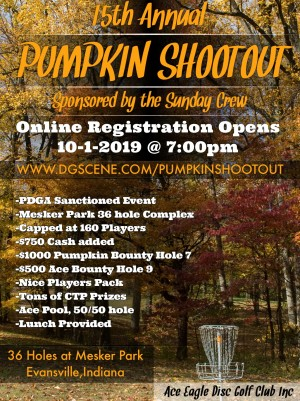 15th Annual Pumpkin Shootout sponsored by Sunday Crew graphic