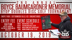 2nd Annual Boyce Baumgardner Memorial Doubles Disc Golf Tournament graphic