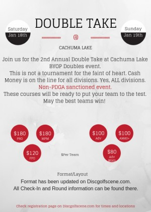 2nd Annual Double Take at Cachuma Lake graphic