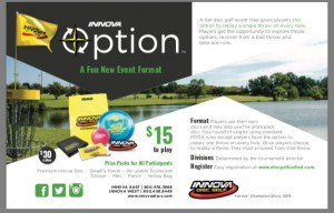 ODGA presents Innova Option III - Powered By Innova Champion Discs graphic