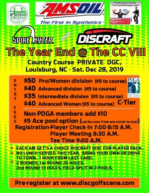 Discraft Presents: Spike Hyzer's; Year End @ THE CC graphic