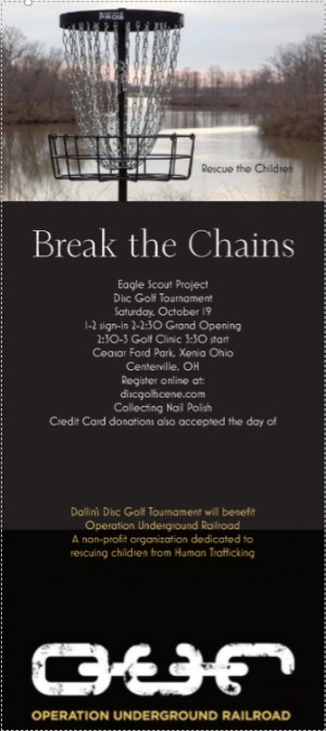 Break the Chains (Dallin Tyre Eagle Scout Project to Stop Human Trafficking) graphic