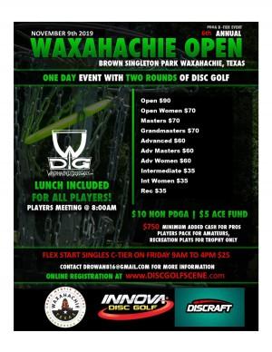 2019 Waxahachie Open graphic