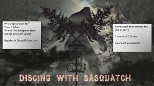 Discing with Sasquatch graphic
