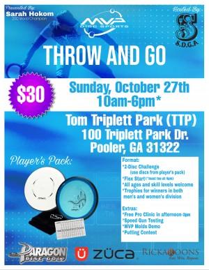 Throw & Go MVP with Sarah Hokom (Savannah, GA) graphic