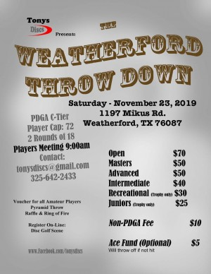 Weatherford throw Down graphic
