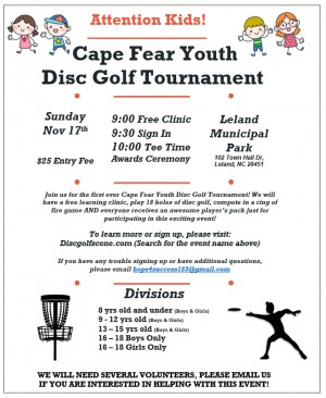 Cape Fear Youth Disc Golf Tournament graphic
