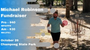 Michael Robinson Fundraiser Sponsored by CE Discs graphic