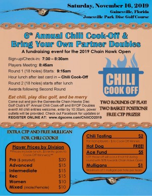 Chain Hawks 6th Annual Chili Cook-off and Bring Your Own Partner Doubles Event graphic
