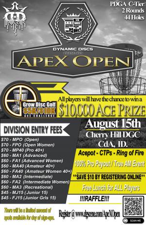 ApeX Open (Dynamic Discs sponsored GDG $5K/$10K event) graphic