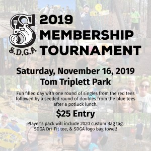 Savannah Disc Golf Association Membership tournament graphic
