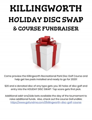 Killingworth Holiday Disc Swap & Course Fundraiser graphic