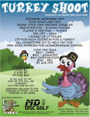 10th Annual Turkey Shoot Doubles Fundraiser graphic