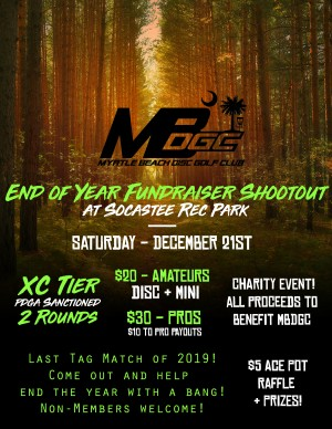 MBDGC 2019 Year-End Fundraiser Shootout graphic