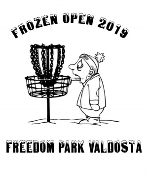 Frozen Open Points Series 2 (Optional VDGA Membership bag tag round) graphic