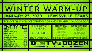 Dynamic Discs presents the Winter Warm Up graphic