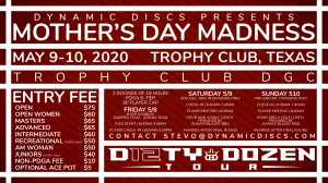Dynamic Discs Presents the Mother's Day Madness (Pro/Intermediate Divisions only) graphic