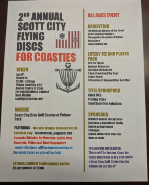2nd Annual Scott City Flying Discs, Presented by Eagle Med, Dried by Sport Sack, Marked by Prodigy graphic