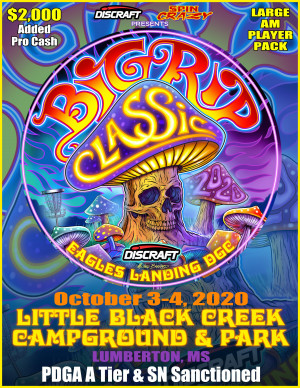 2020 Big Rip Classic Presented by Discraft graphic