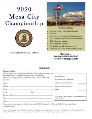 2020 Mesa City Championships graphic