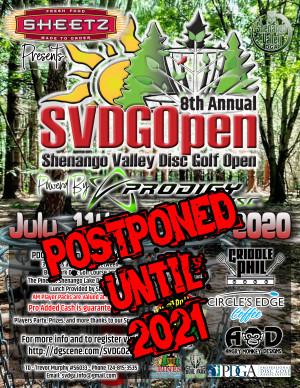 Sheetz presents the 8th Annual Shenango Valley Disc Golf Open powered by Prodigy Disc graphic