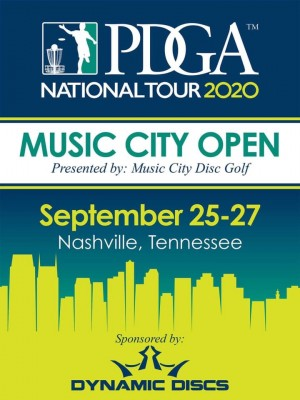 2020 Music City Open Presented by Dynamic Discs - National Tour (FPO and MPO only) graphic
