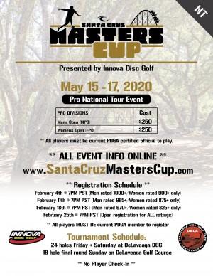 2020 Santa Cruz Masters Cup (NT) - Presented by Innova graphic