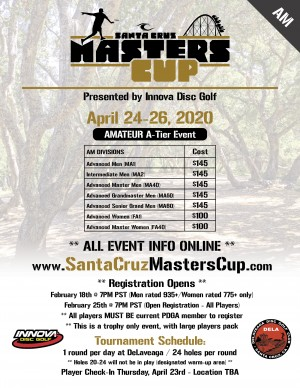 2020 Santa Cruz Masters Cup - (Am) - Presented by Innova graphic