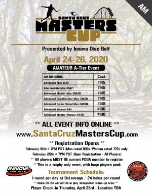 2020 Santa Cruz Masters Cup - (Am) - Presented by Innova graphic