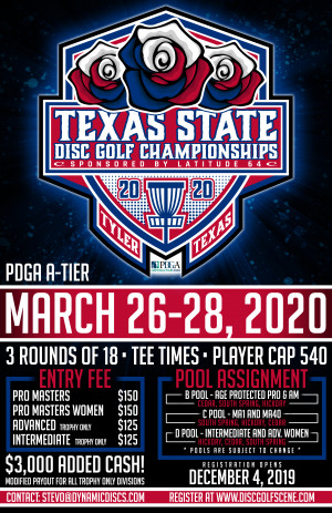 Texas State Disc Golf Championships Presented by Latitude 64 graphic